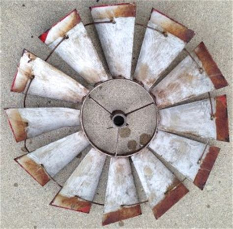 old windmill fan blades for sale vintage windmill blades patina red perfect for