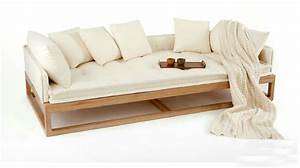 New oriental zen zen rohan couch bed old elm chinese trio for Zen sofa bed