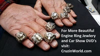 Engine Ring Jewelry & Car Show DVD's for Sale in