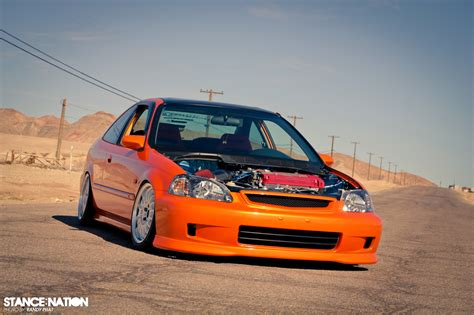 si鑒e social orange orange civic si tremek car car drag racing