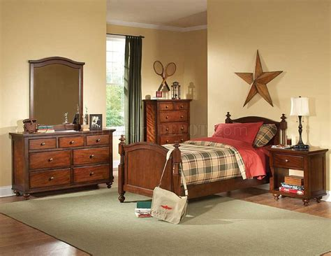 aris  kids bedroom  brown cherry  homelegance