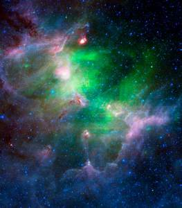 Green And Purple Nebula - Pics about space