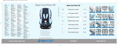 siege auto maxi cosi priori mode d 39 emploi maxi cosi priori xp siège auto trouver une