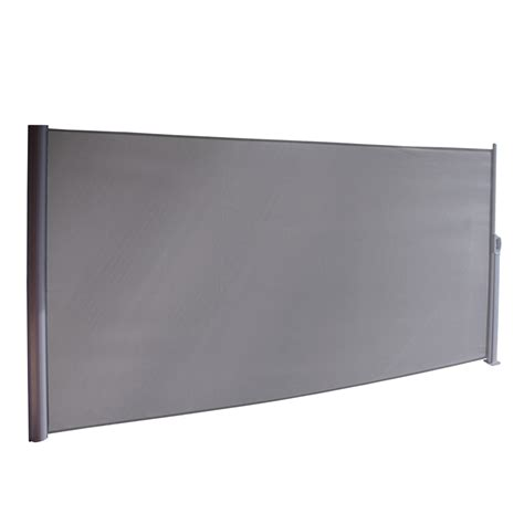 pillar products    retractable patio screen charcoal