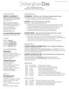 The Table On Resume by Table Format Resume