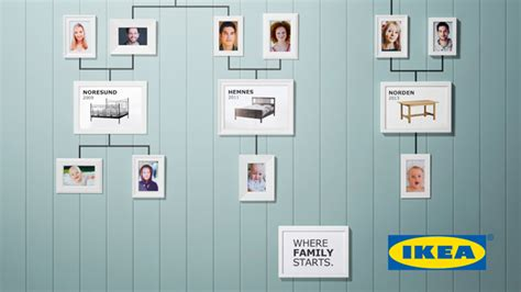 ikeas family tree ads show beds generation
