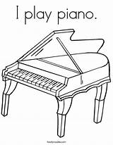 Coloring Piano Play Grand Keyboard Pages Drawing Outline Noodle Music Pianos Printable Drum Twistynoodle Twisty Mozart Cursive Worksheets Keys Note sketch template