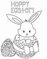 Easter Coloring Happy Printables sketch template