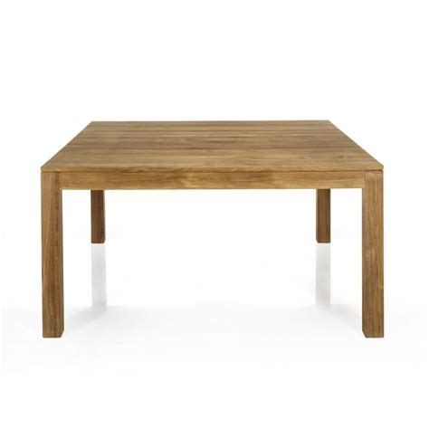 table de repas carr 233 e en teck massif 145x145cm emotion