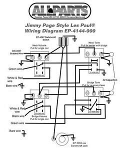 Wiring Kit For Gibson Jimmy Page Les Paul Complete