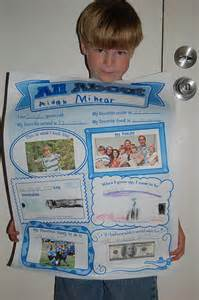 All About Me School Poster Ideas
