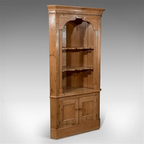 Antique Cupboard by Antique Pine Corner Wall Cupboard
