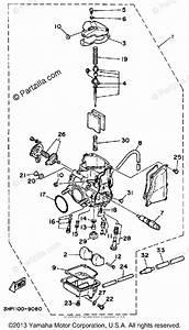 Yamaha Atv 1989 Oem Parts Diagram For Carburetor