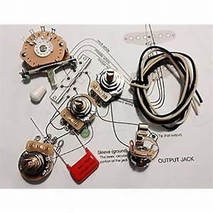 Deluxe Wiring Kit For Fender Strat  047 Cap   Shielding Tape