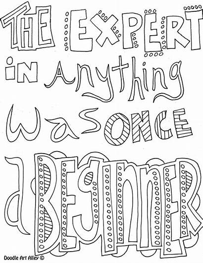Coloring Pages Quote Doodle Learning Alley Expert