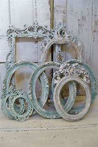 Was Ist Shabby Chic : shabby chic soft blue frame grouping set distressed with white and touches of gold anita spero ~ Orissabook.com Haus und Dekorationen
