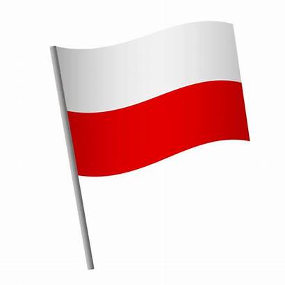 Flag Polish Vector Poland Icon Illustrations Pole