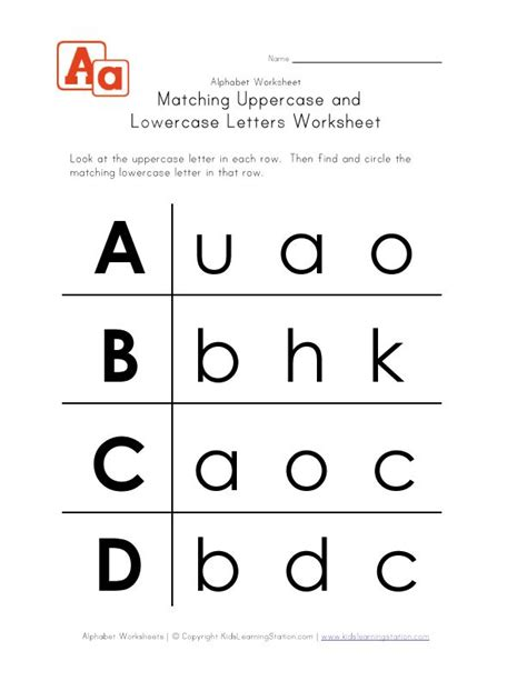 Uppercase And Lowercase Letters Worksheet Ad  Homeschool  Pinterest  Letter Worksheets, A