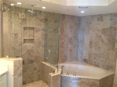 vertical stagger  shower tub area