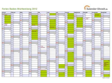 ferien baden wuerttemberg  ferienkalender zum ausdrucken