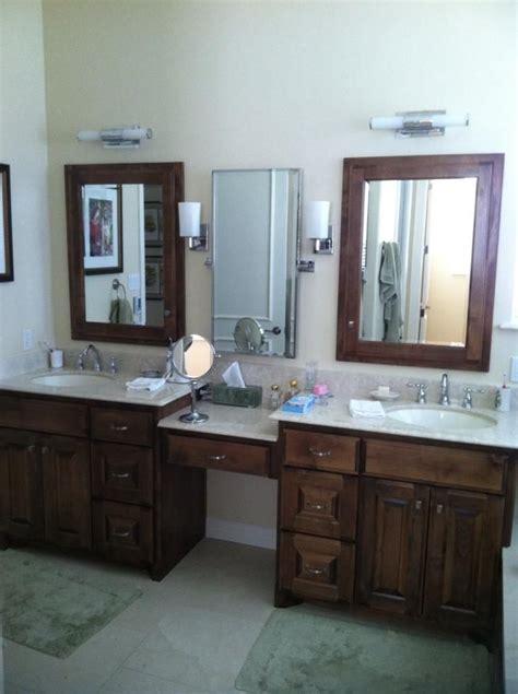 split vanities   knee space bathrooms