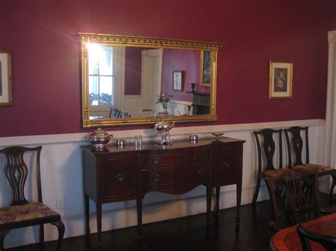 painting a room with a chair rail used a plum colored