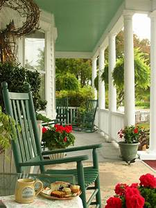 Front, Porch, Decorating, Ideas, From, Around, The, Country