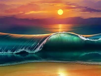 4k Ultra Wallpapers Laptop Sunset Desktop Beach