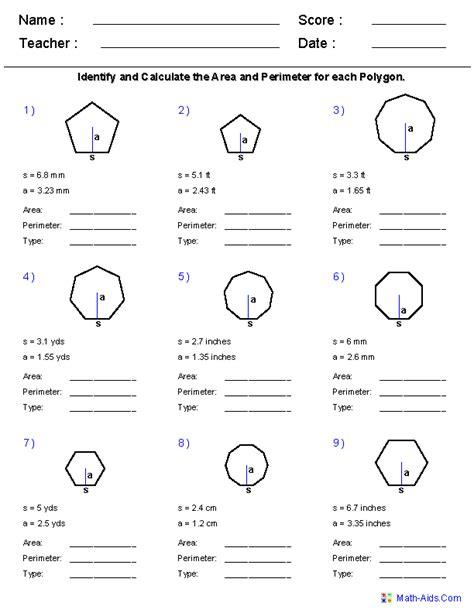 geometry worksheets area and perimeter worksheets math