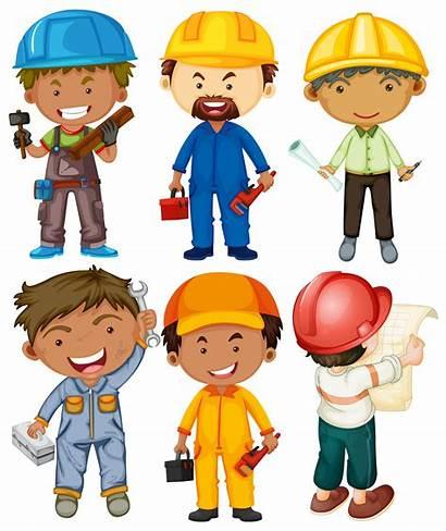 Jobs Different Types Vector Doing Worker Vectors