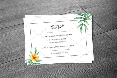Wedding RSVP Card Template   Creative Photoshop Templates ...