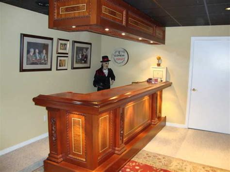 Custom Built Home Bars by Custom Made Bar Tops Custom Built Solid Mahogany Bar And