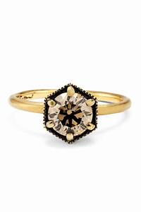 engagement ring with champagne diamond With alternative to wedding ring exchange