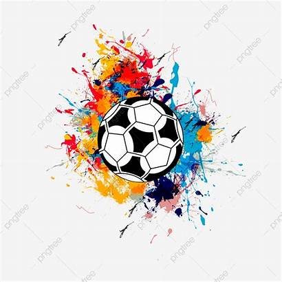 Football Splash Cup Clipart Cool Colorful Psd