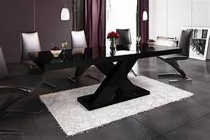 Esstisch Schwarz Ausziehbar : design esstisch he 888 schwarz hochglanz ausziehbar 160 210 cm hochglanz esstische ~ Indierocktalk.com Haus und Dekorationen