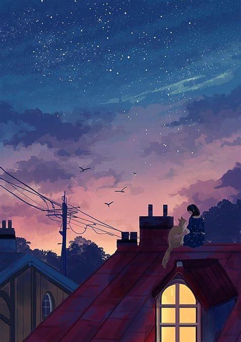 helen warlow    anime scenery aesthetic art
