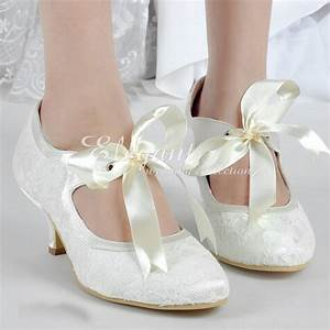 satin bridal shoes lace wedding dress shoes fashion lady With wedding shoes for lace dress