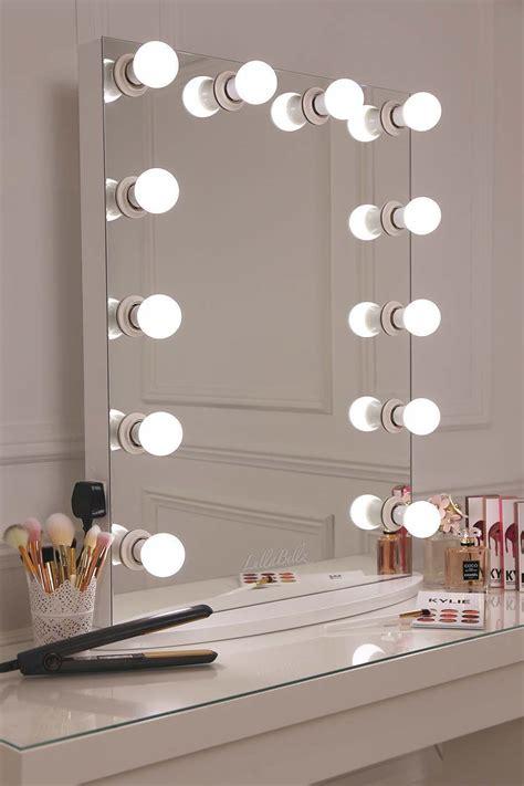 vanity mirror with bulbs glow vanity mirror with led bulbs lullabellz