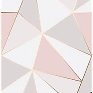 Papier Peint Rose Et Gris : papier peint fine decor apex r sistant rose gold full ~ Dailycaller-alerts.com Idées de Décoration