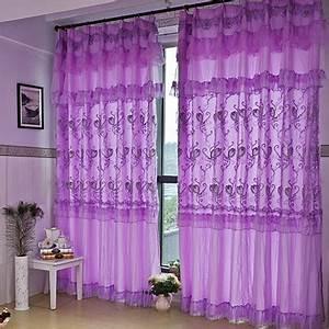 Rideau Dentelle Romantique : violet dentelle rideaux promotion achetez des violet dentelle rideaux promotionnels sur ~ Teatrodelosmanantiales.com Idées de Décoration