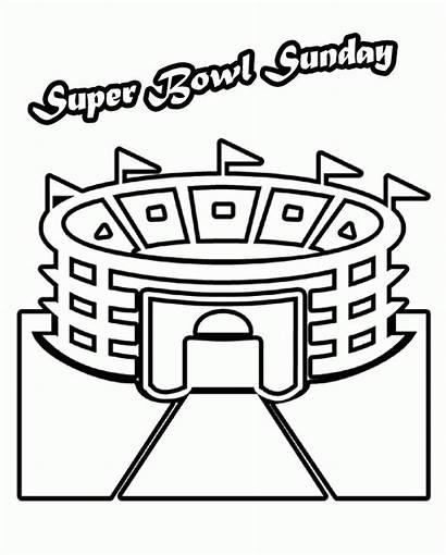 Bowl Coloring Super Pages Stadium Trophy Superbowl