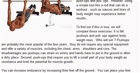 Push Ups And Pull Ups Versus Dips And Bodyweight Rowsthe