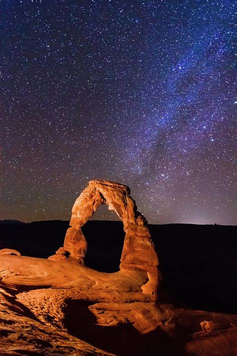 delicate arch  milky  photograph  matthew crowley