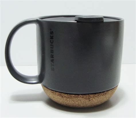 You'll receive email and feed alerts when new items arrive. Starbucks Coffee Black Grande Cork Bottom Ceramic Mug with Lid 12 oz 2013 #Starbucks (With ...
