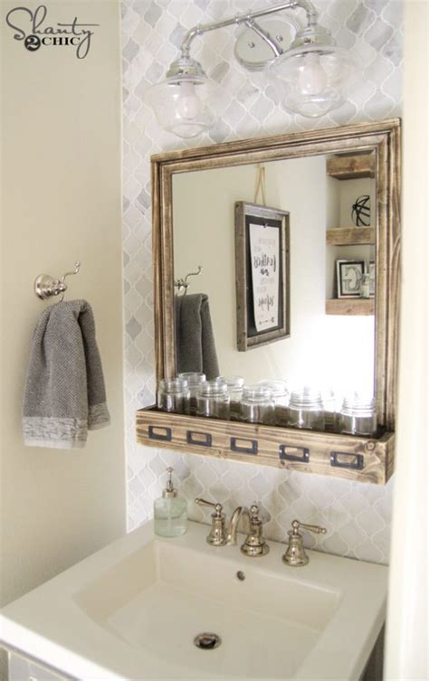 diy bathroom vanity shanty  chic
