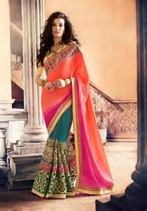 indian wedding card 2016 sarees shopping online multicolor