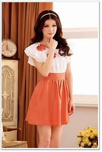 Size Chart 6 Inches Fashion Dress For Sweet Girls K3204 Orange K3204 11 77