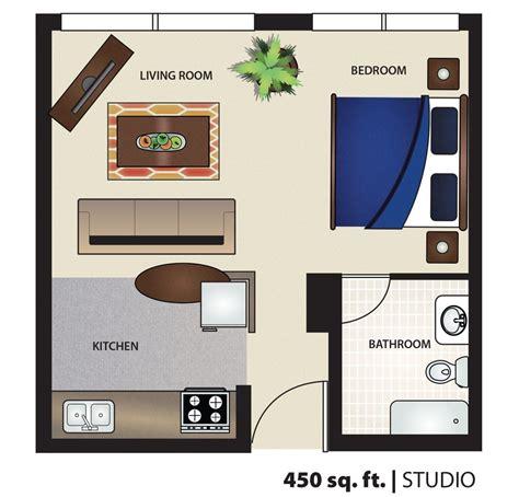 square foot apartment floor plan efficiency studio