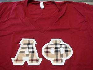 alpha phi letters made with burberry fabric greek letter With alpha phi letter shirts