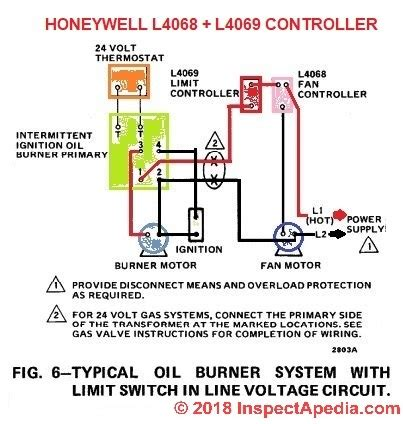 Three Way Switch Diagram Motor by How To Install Wire The Fan Limit Controls On Furnaces
